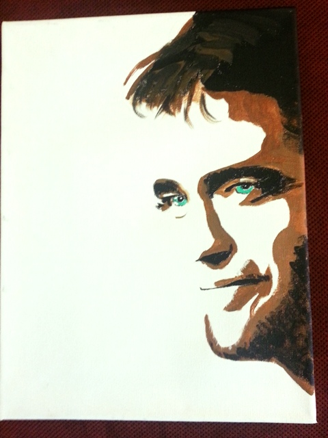 Robert Pattinson Painting