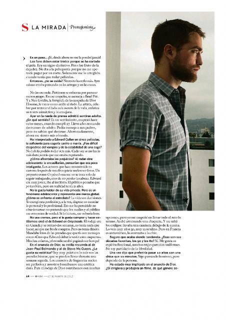 DIOR HOMME ROB In El Pais Magazine (Spain)