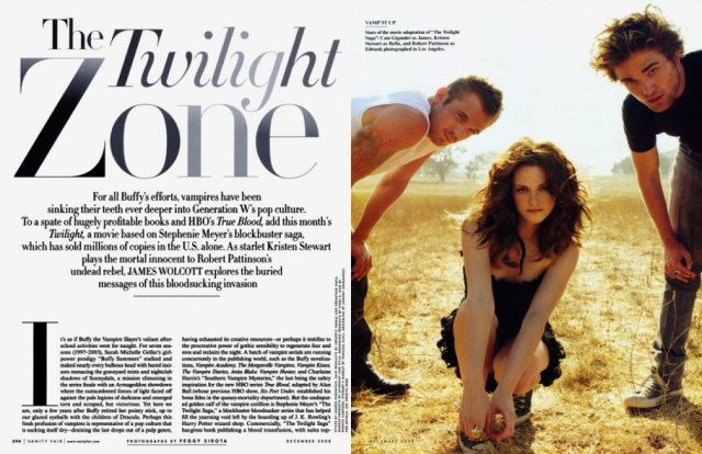 Vanity Fair Magazine Twilight Photos