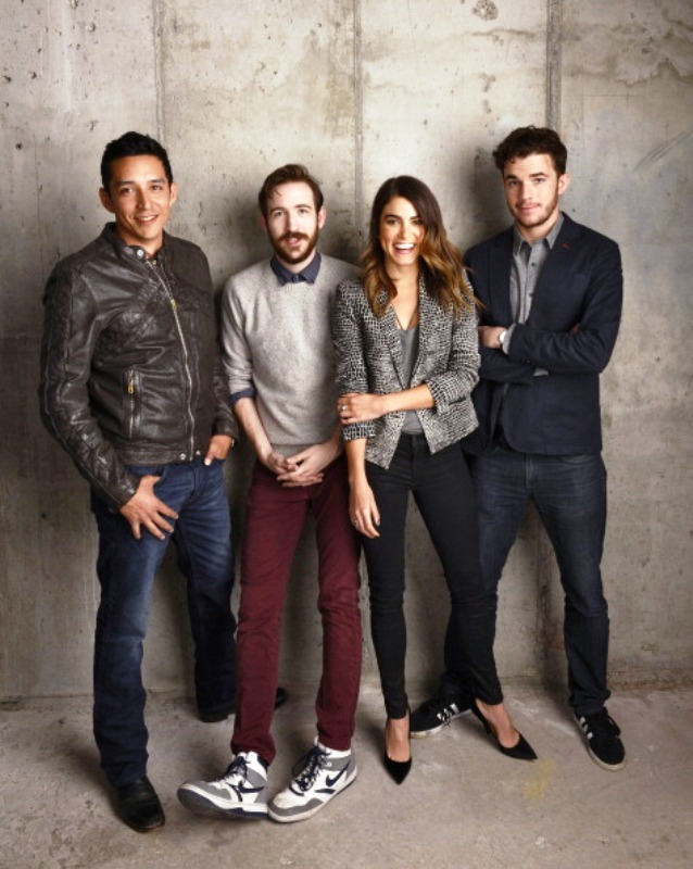 "NEW YORK, NY - APRIL 21:  (L-R) Actors Gabriel Luna; Brian McElhaney, Nikki Reed and Nick Kocher from ""Intramural"" pose for the Tribeca Film Festival Getty Images Studio on April 21, 2014 in New York City.  (Photo by Larry Busacca/Getty Images for the 2014 Tribeca Film Festival)"