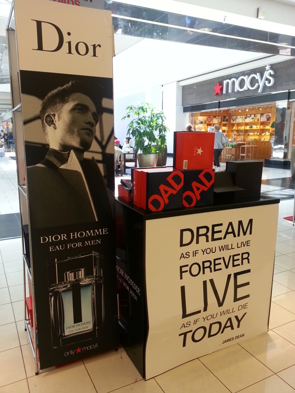 DIOR HOMME ROB  Back at Macys in Portland
