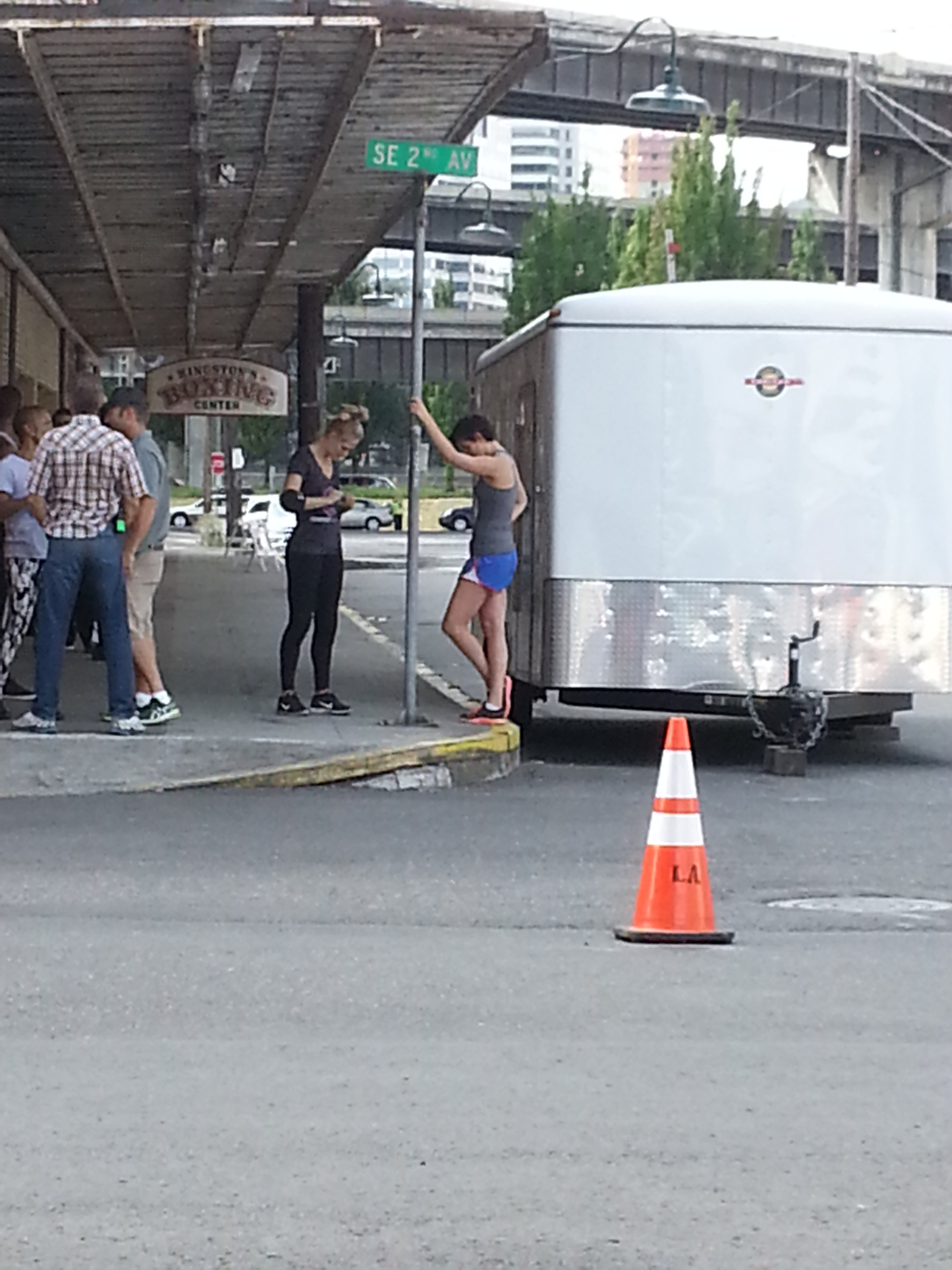 GRIMM FILMING MTG  CAST IN PORTLAND